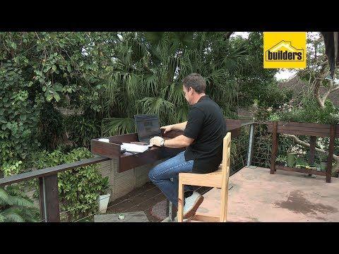 How to Make a Balcony Railing Bar Table - YouTube #balconybar