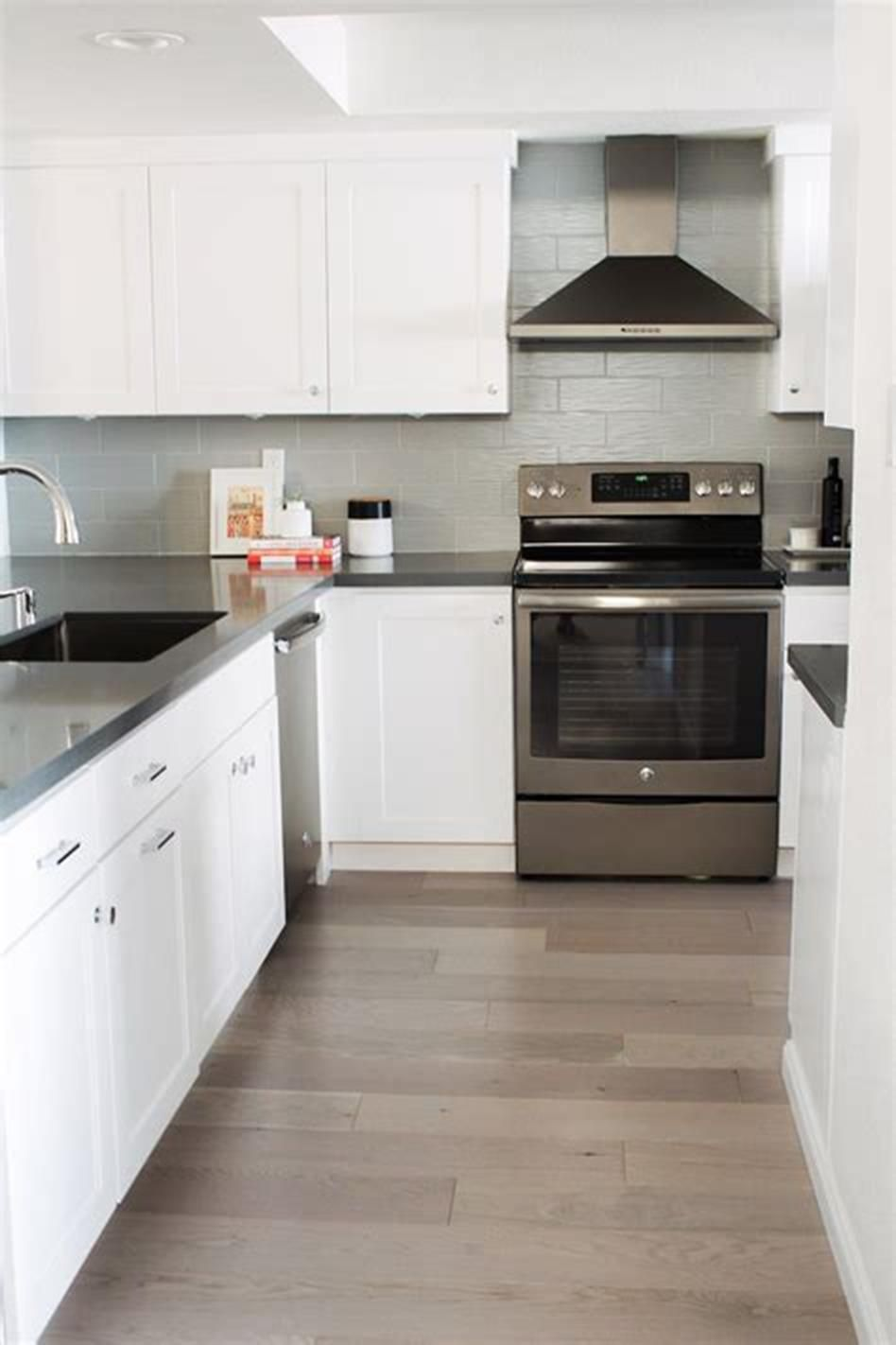 42 Amazing Ideas Kitchen Remodels With White Cabinets For 2019 36 Homenthusiastic Kitchen Remodel Small Condo Kitchen Remodel White Cabinets White Countertops