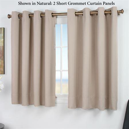 Ultimate Blackout Short Grommet Curtain Panel Curtains Grommet