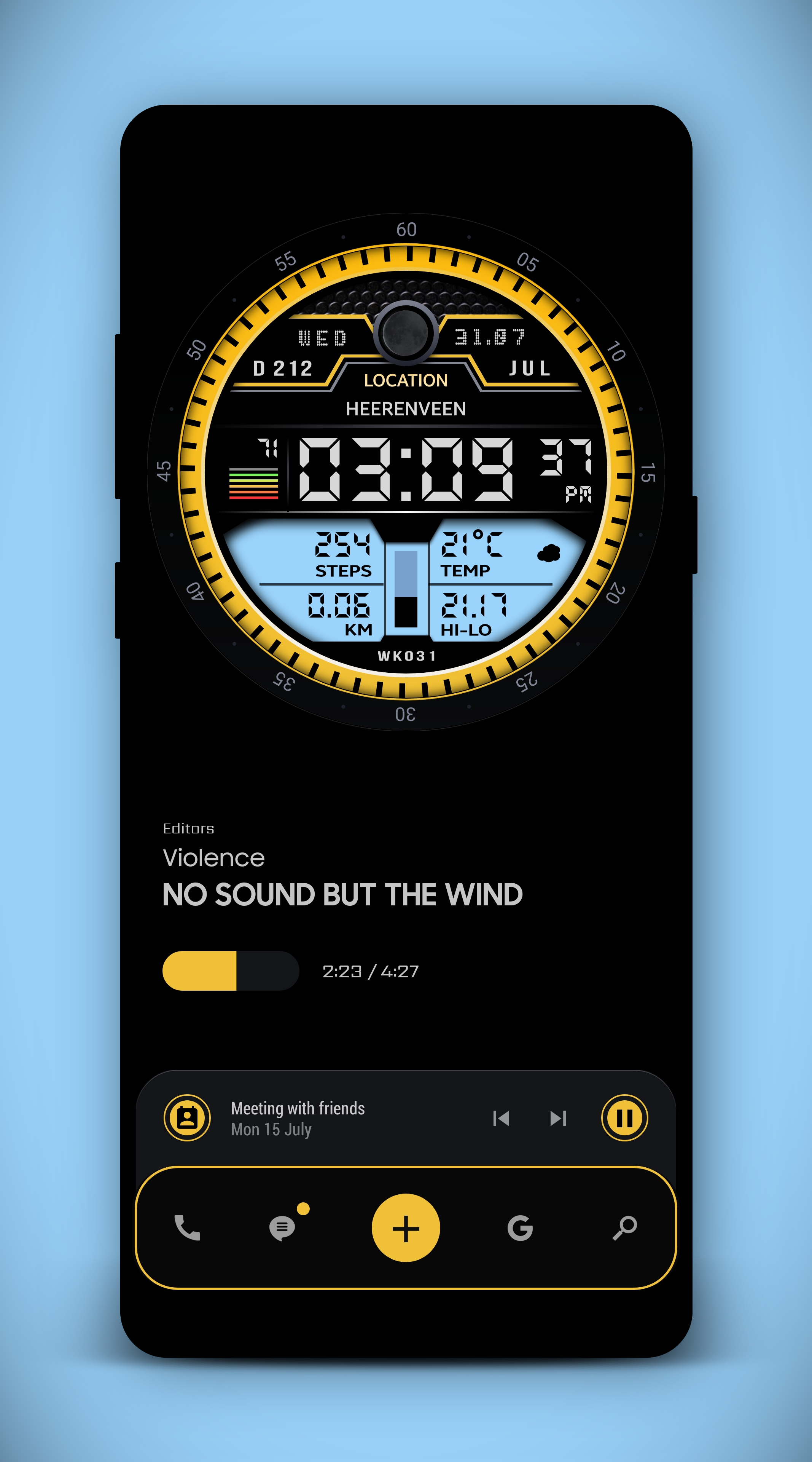 Watch Face Theme For KLWP Watch faces, Theme, Face