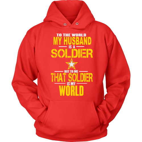Army - To the world my Husband is a soldier - Front