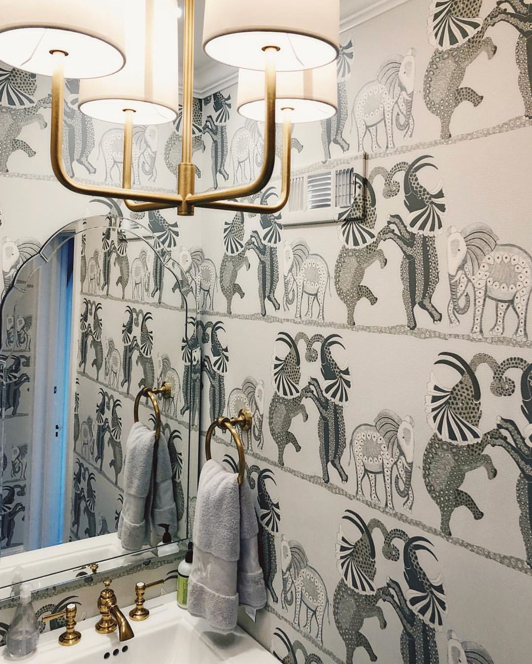 Safari Dance This Magical Wallpaper By Cole Son Features A Trio Of Intricately Drawn Elephants D Cole And Son Wallpaper Elephant Wallpaper Dance Wallpaper