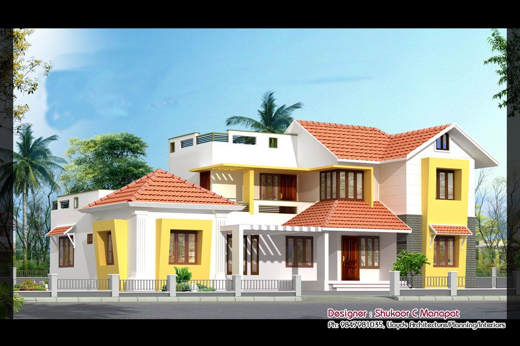 4 Bedroom Kerala Style House Elevation Design 2847 Sq Ft | Home Inspiration  | Pinterest | House Elevation, Bedrooms And House