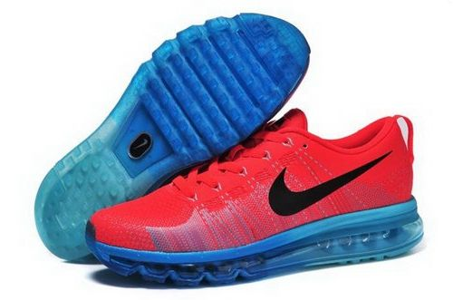 c8d3538ca13a Nike Flyknit Max Mens Shoes Leather Print Orange Red Black Blue New Italy