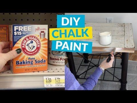 Comment faire de la peinture à la craie maison, avec du bicarbonate