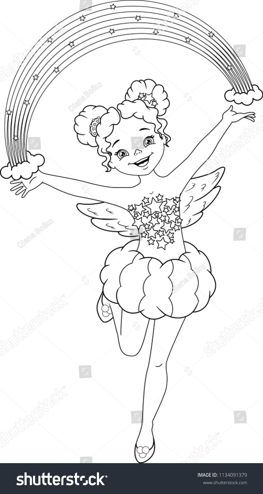 Rainbow Fairy Coloring Page Fairy Coloring Pages Fairy Coloring Butterfly Coloring Page