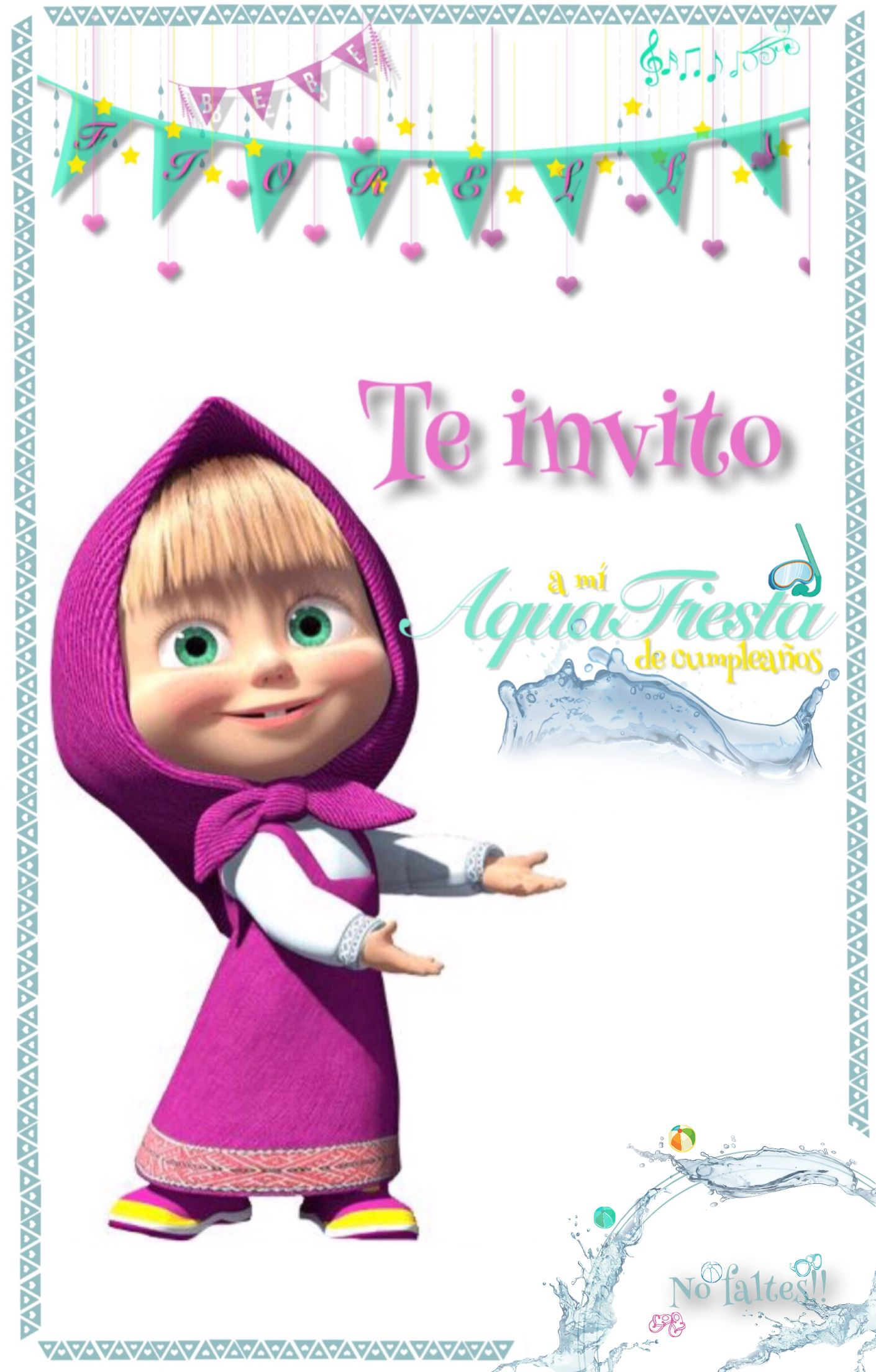 Invitación de Masha
