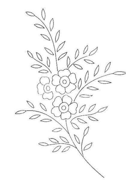 빈티지 꽃 자수도안 2