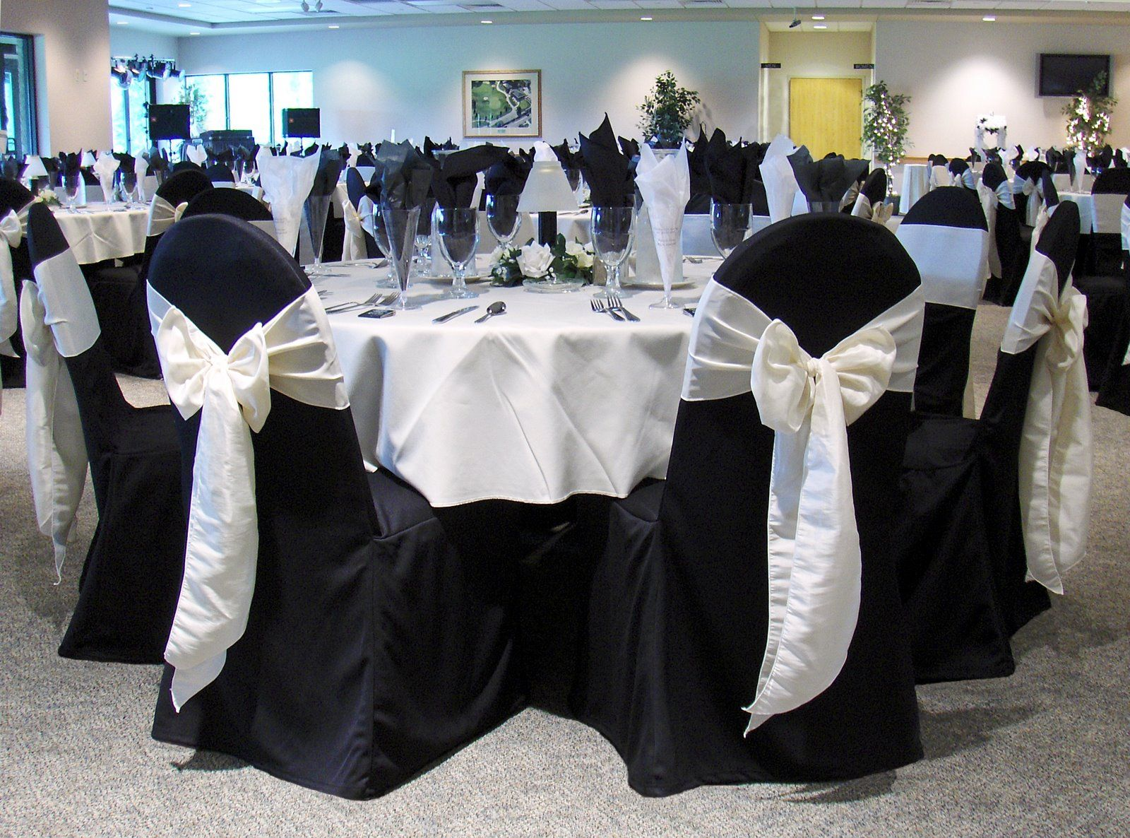 Black chair covers for weddings - Black Wedding Table Cloth And Chair Covers Why You Chose Black Banquet Chair Covers