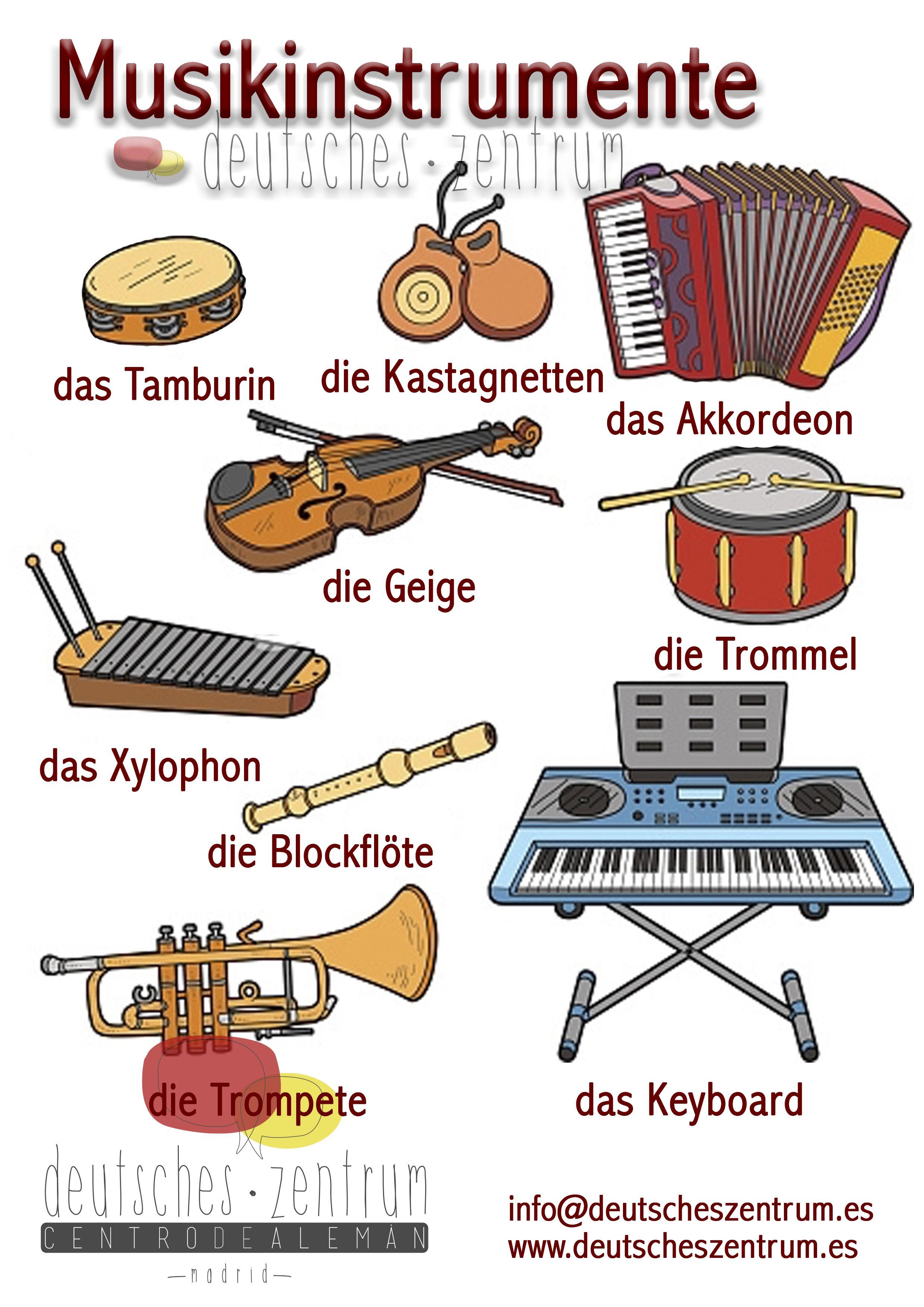 musikinstrumente deutsch wortschatz grammatik german daf