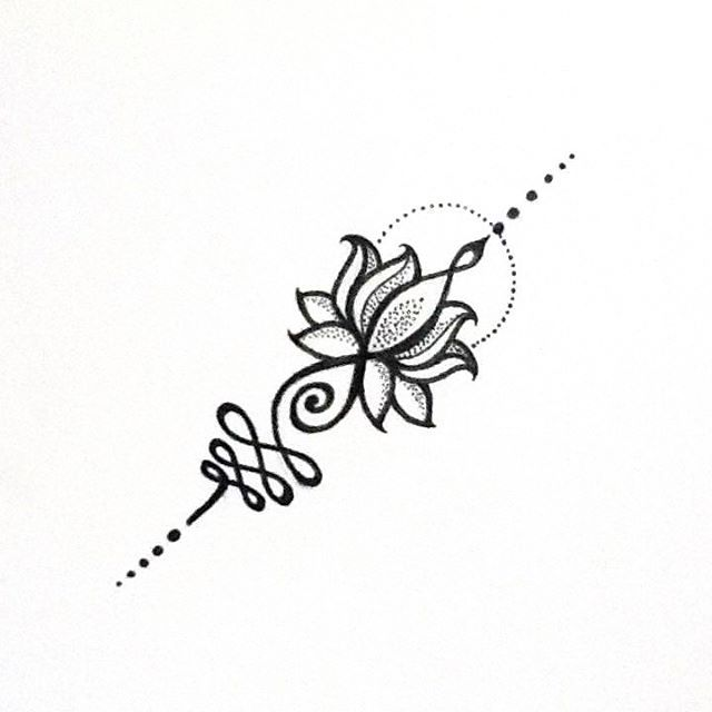 "109 curtidas, 1 comentários - Aline Coill (@alinecoill) no Instagram: ""U N A L O M E L O T U S #unalome #unalometattoo #lotus"""