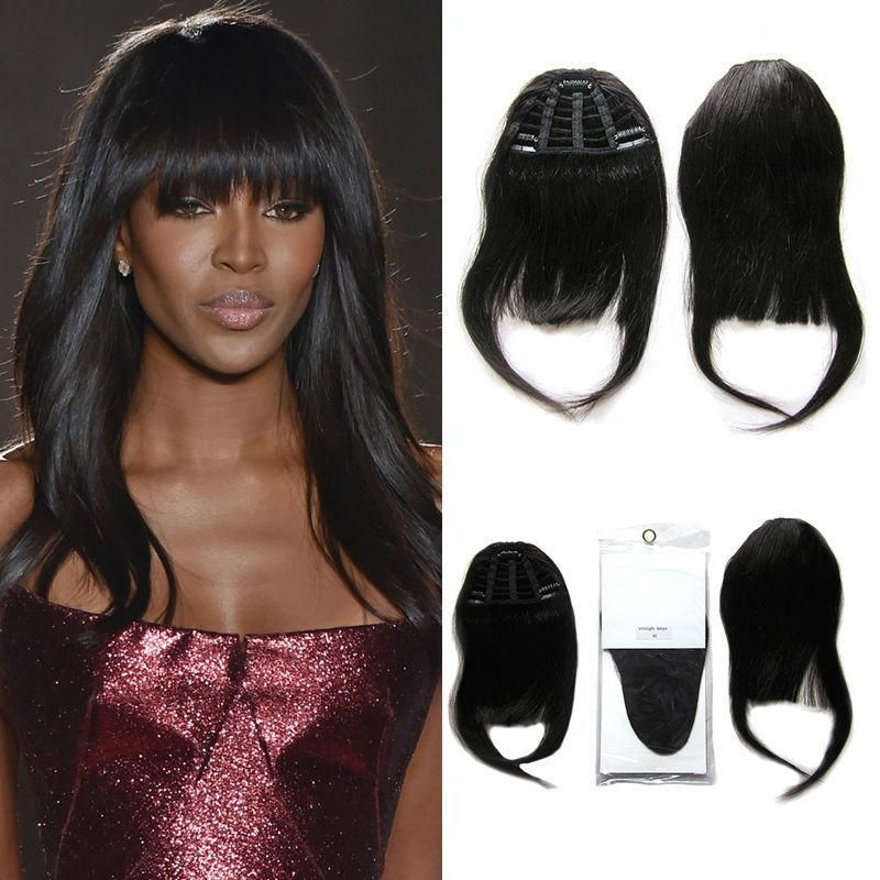 Human Hair Bangs Remy Clip In Hair Extension Bangs Human Clip On