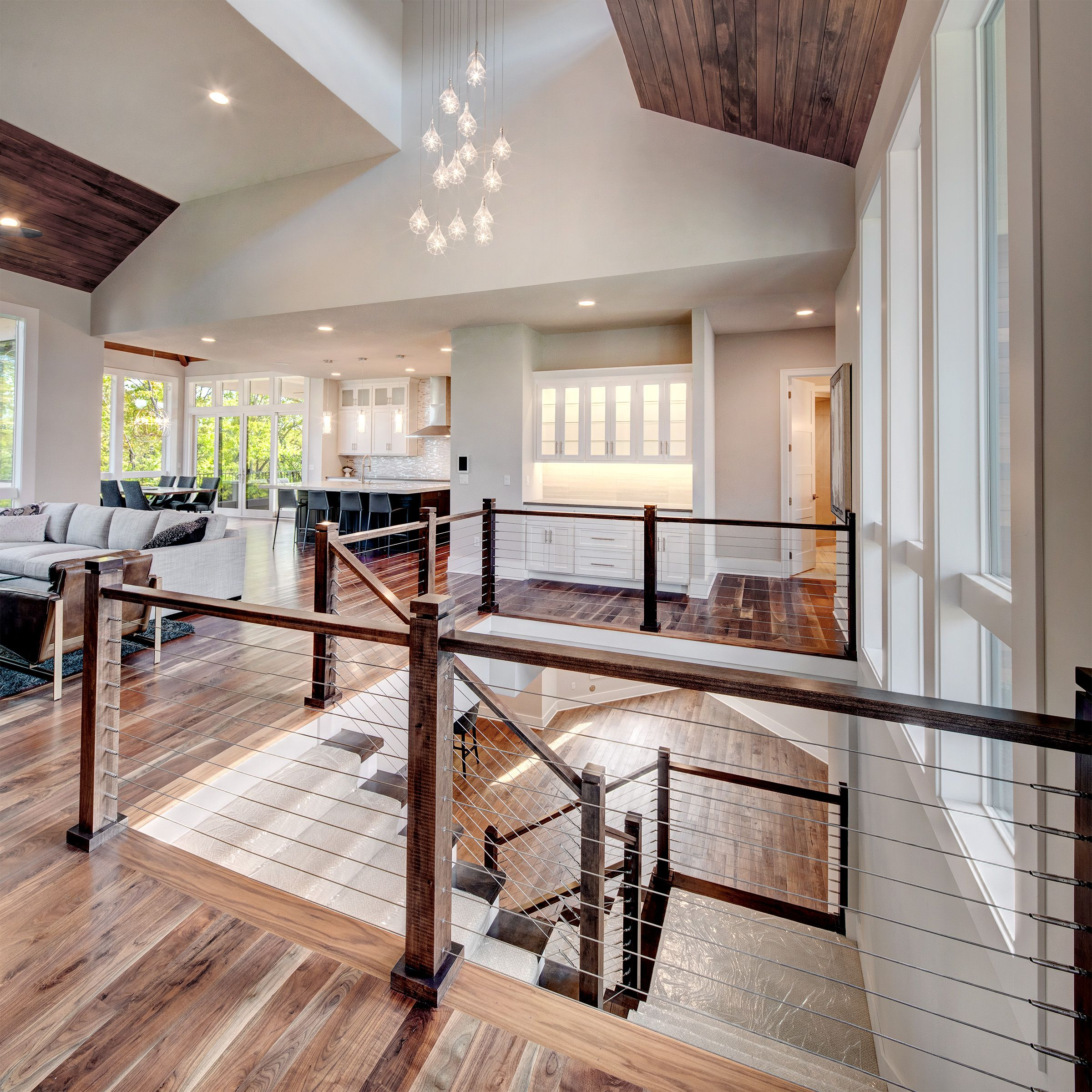 Beautiful Wood Staircase And Railing. Modern Clean Lines