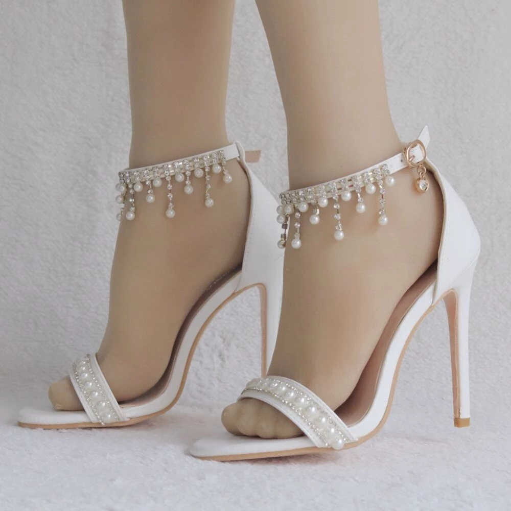 Bridal sandals Rhinestone sandals Handmade leather sandals Embellished wedding shoes /'Francis/' Wedding shoes Crystal Wedding sandals