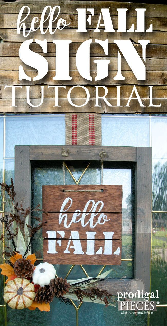 Welcome Sign Decor New Hello Fall Sign With Diy Tutorial  Diy Tutorial Tutorials And Decorating Inspiration