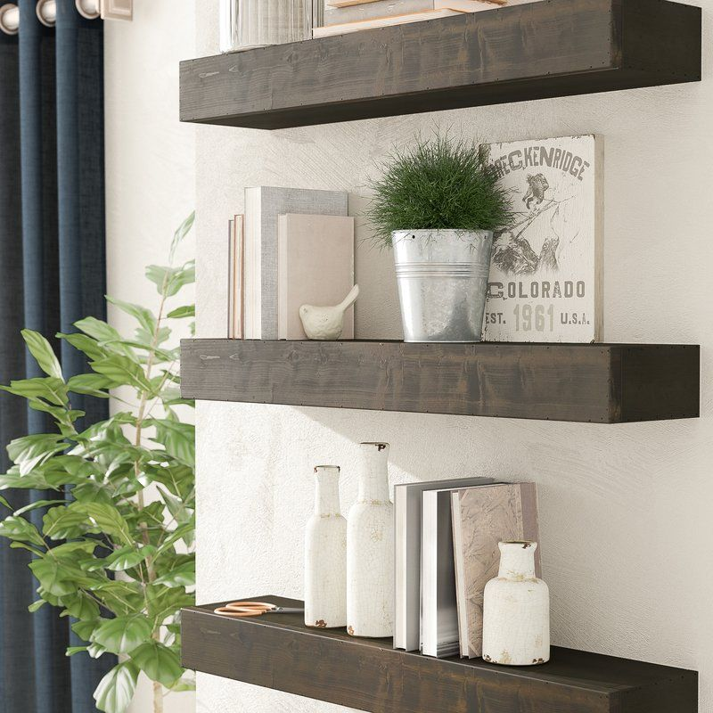 Henjes Wall Shelf In 2020 Rustic Floating Shelves Floating Shelves Floating Shelves Living Room
