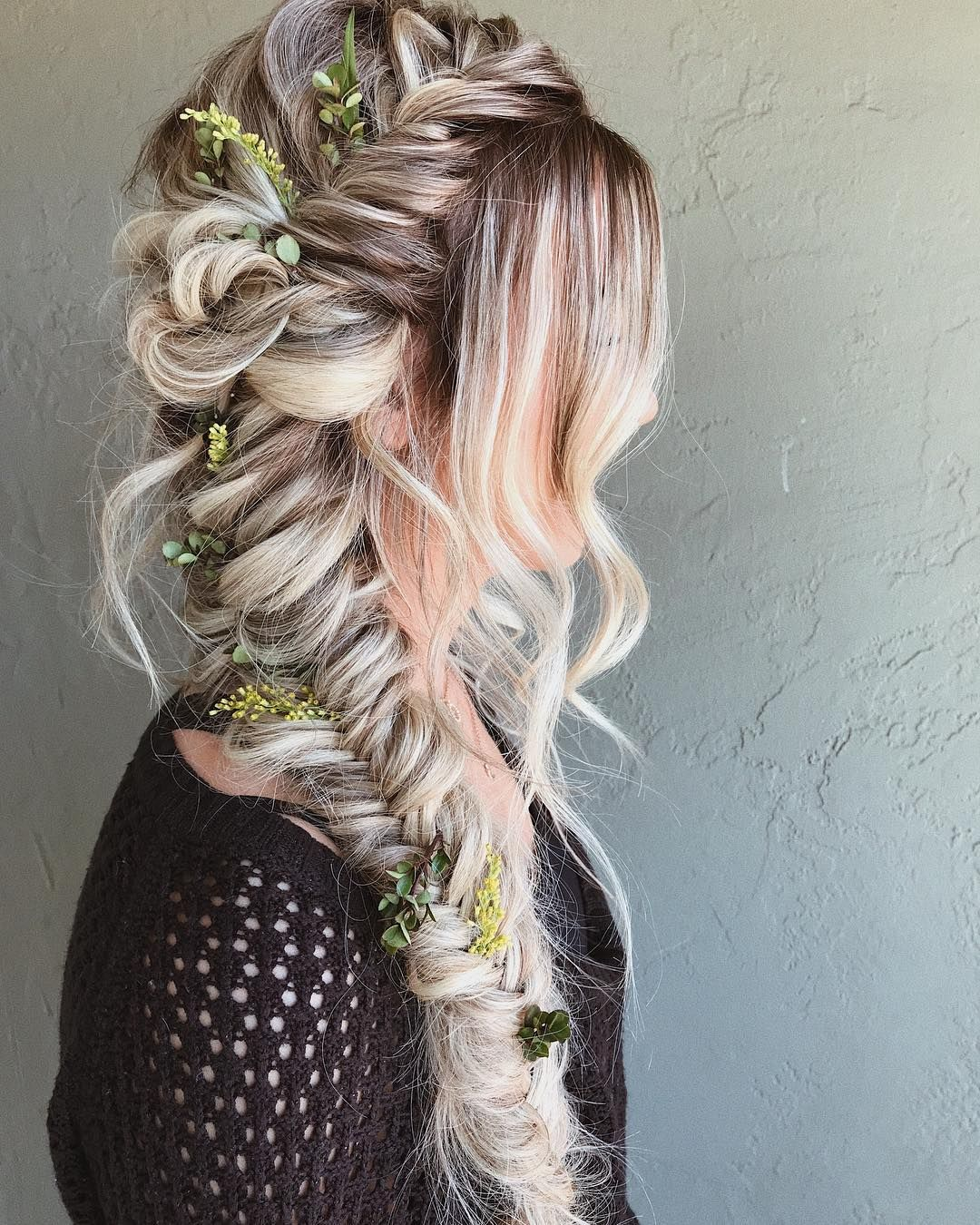 Boho Braids half up half down hairstyle