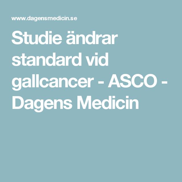 Studie ändrar standard vid gallcancer - ASCO - Dagens Medicin