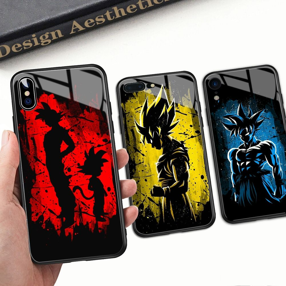 Fandomexpress Com Buy Dragon Ball Z Son Goku Glass Back Case Cover For Iphone Models In 2020 Dragon Ball Z Dragon Ball Son Goku