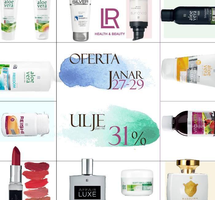 27 - 29 Janar, produktet per shendetin & bukurine #LR me ulje deri ne 31%! Zgjidh ne kete link: http://www.lrworld.com.gr/offers/ #aloevera #vitamins #minerals #cosmetics