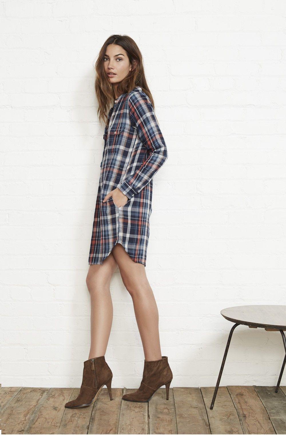 Plaid Shirt Dress ::Velvet by Graham & Spencer