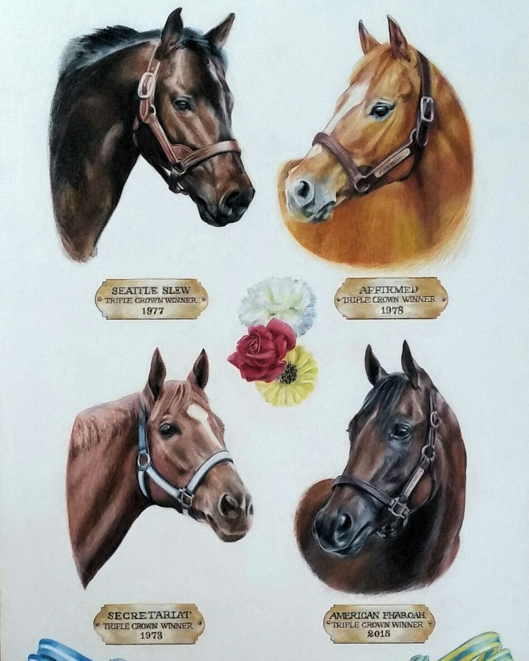 Triple Crown Winner Montage Was A Philanthropic Project Inspired By My Love And Appreciation For The Horse Horses Triple Crown Winners Horse Racing