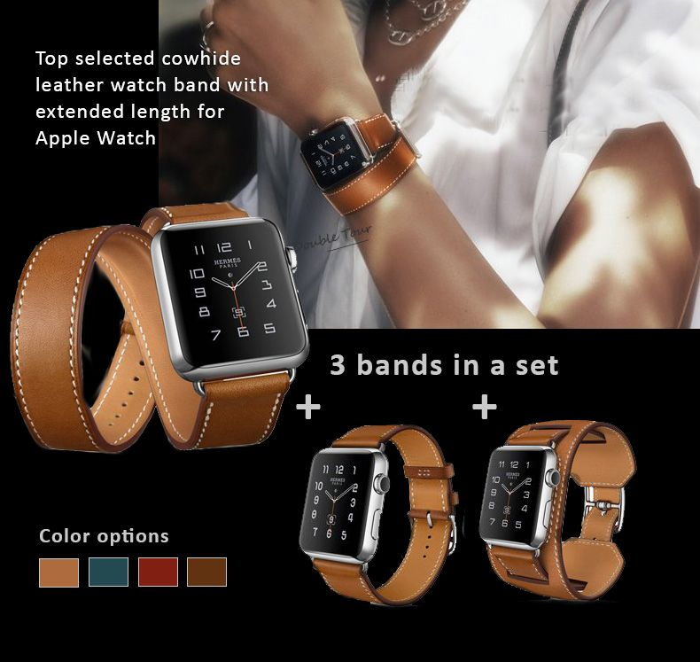 Genuine Leather Watch Bands Straps For Apple Watch 5 4 3 2 1