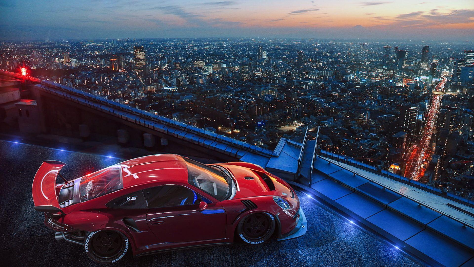 Porsche City Tuning Future Ligth By Khyzyl Saleem 1080p Wallpaper Hdwallpaper D Car Wallpapers Merry Christmas Wallpaper Merry Christmas Wishes Images