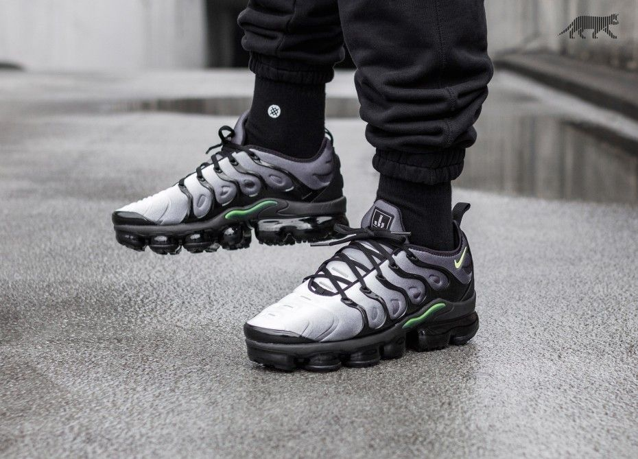 36776fbd94 Nike Air Vapormax Plus Black Volt Follow @IllumiLondon for more Streetwear  Collections #IllumiLondon
