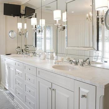 white master bathroom tv ideas | master bathroom vanity