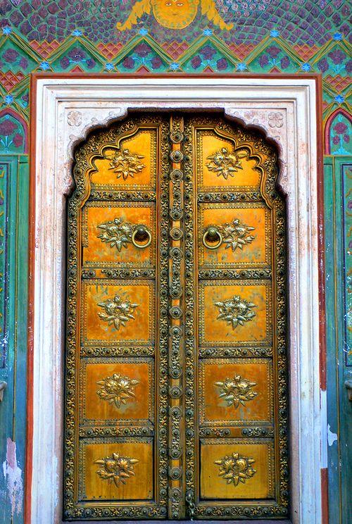 explore-the-earth: Rajasthan, India | Traditional doors, Indian doors, Gorgeous doors