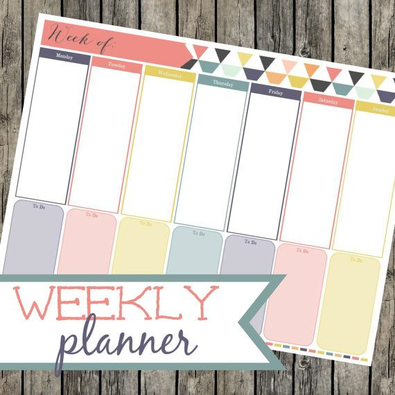 Weekly Planner. Weekly To Do List. Time Blocking. Weekly Organizer. Printable PDF. Time Management. Weekly Goals. Instant Download