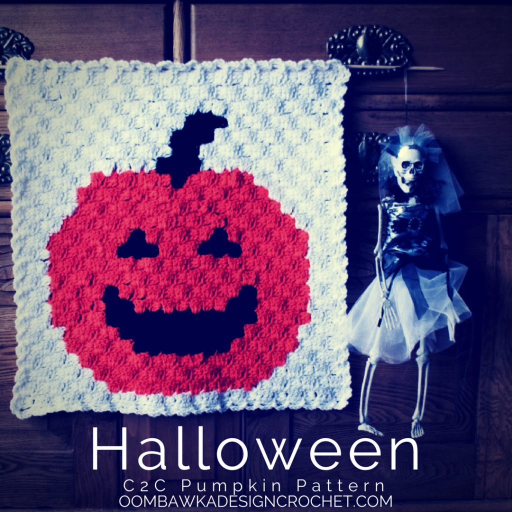 Decorate with a C2C Halloween Pumpkin Panel