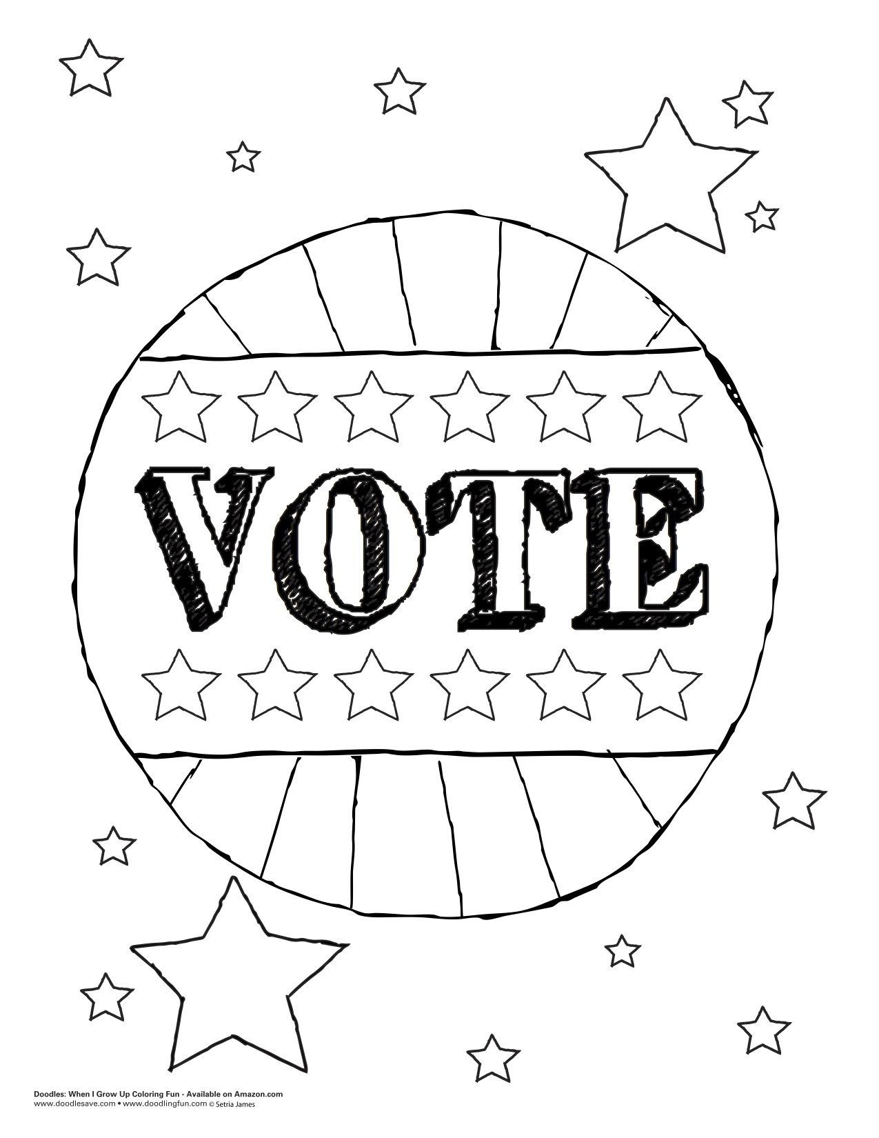 exercise your right government vote coloring kids starsandstripes - Coloring Exercises