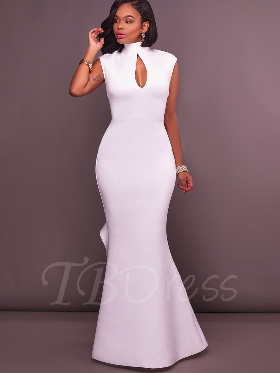021015fad397b Open Back Off White Falbala Women's Maxi Dress | Africans | Dresses ...