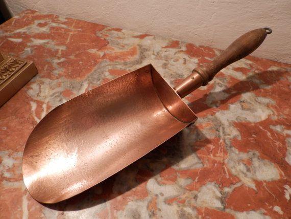 Vintage French Copper Pan. Antique Copper Coffee Flour Scoop. M ...