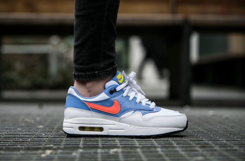 """Nike Air Max 1 (GS) """"Chalk Blue"""" (807605-101) - http://goo.gl/3es7tE"""