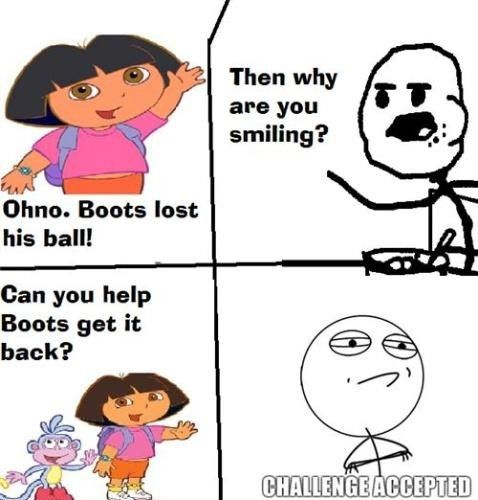 Axcepted Dora Funny Funny Memes Cereal Guy Meme