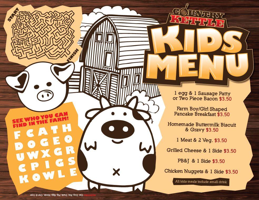 Kids menu templates | menus | Pinterest | Menu template and Kids menu