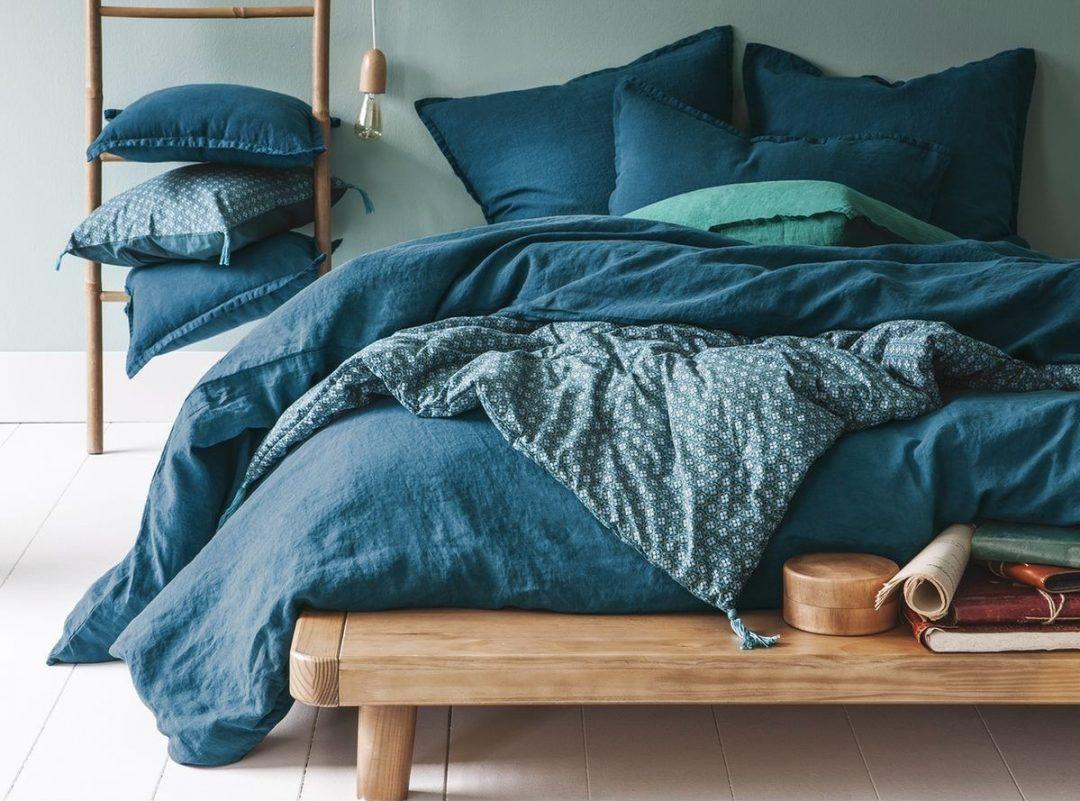 Chambre Bleu Ciel Et Lin dans ma chambre: mon linge de lit en lin lavé | housse de