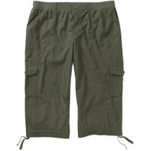 0503a606cd9 Walmart  Faded Glory Women s Plus-Size Cargo Capri Pants with Knit Waistband