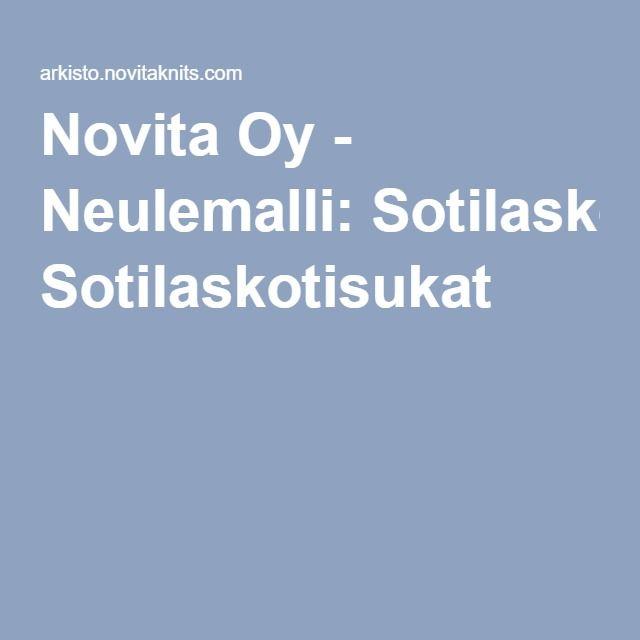 Novita Oy - Neulemalli: Sotilaskotisukat
