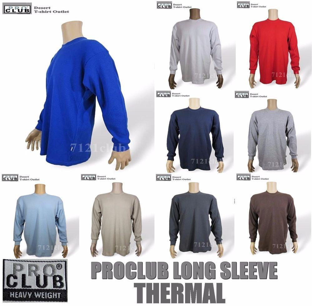 3a5af392 PRO CLUB THERMAL HEAVYWEIGHT LONG SLEEVE T SHIRT PROCLUB MEN BIG AND TALL  S-5XLT #fashion #shirt #designers #women #shop #brands