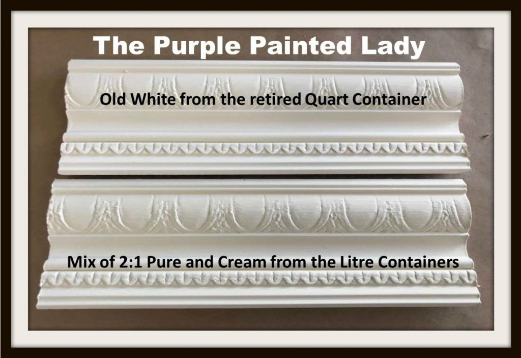 Mixing Chalk Paint In Litres To Match Old White The Retired Quart Container Missing That French Vanilla Ice Cream Color Purple Painted Lady