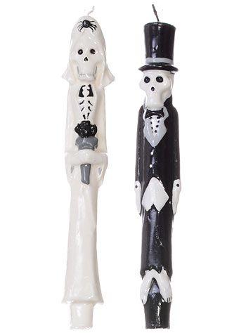 Til Death Skeleton Taper Candle Set at ShopPlasticland.com #Wedding #Candles #DayoftheDead #Skeleton