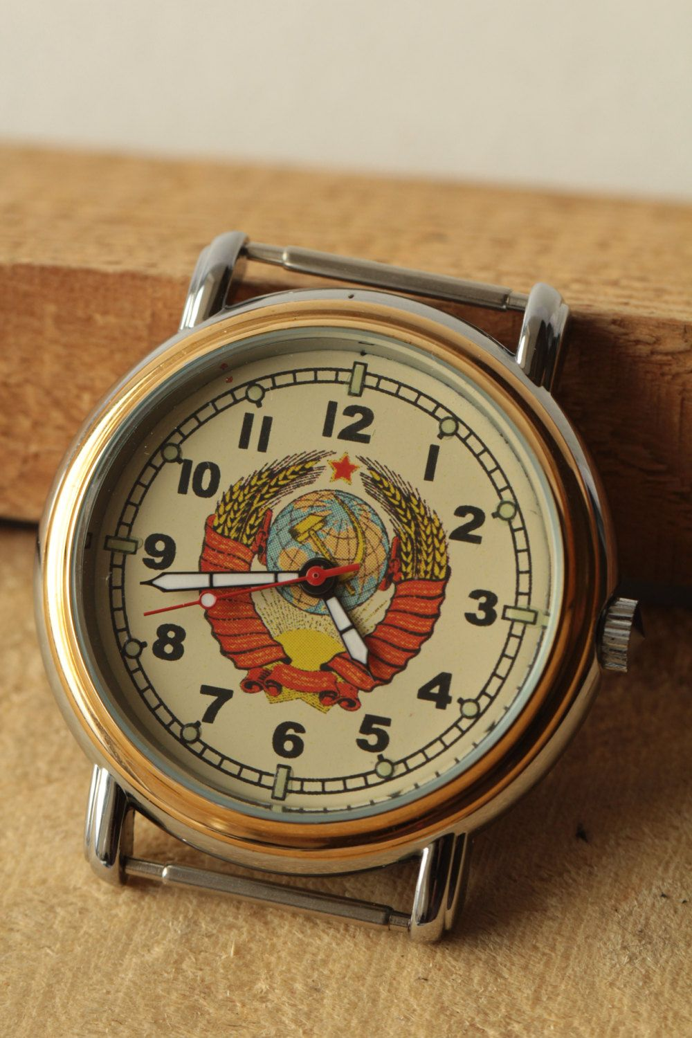 RAKETA Mens Wrist Watch Coat of arms USSR Russian brand cal. 2614H Russian  brand .Gift for father e5aaf4539a3
