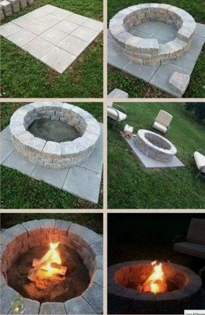 Photo of ✔33 creative fireplace for your garden design 12