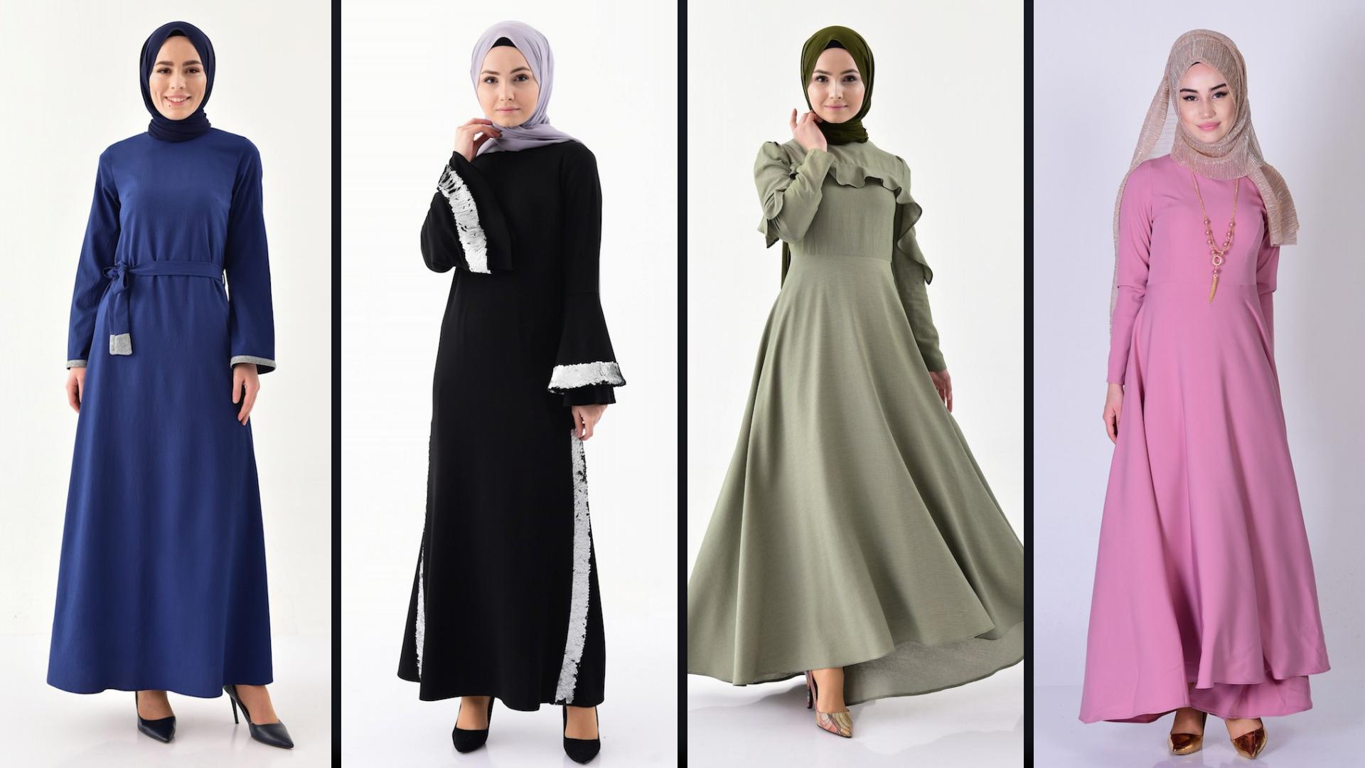 Bislife Tesettur Elbise Modelleri Sefamerve 2019 Hijab Dress Hijab Kleid Elbise Modelleri Elbise Asimetrik Elbise