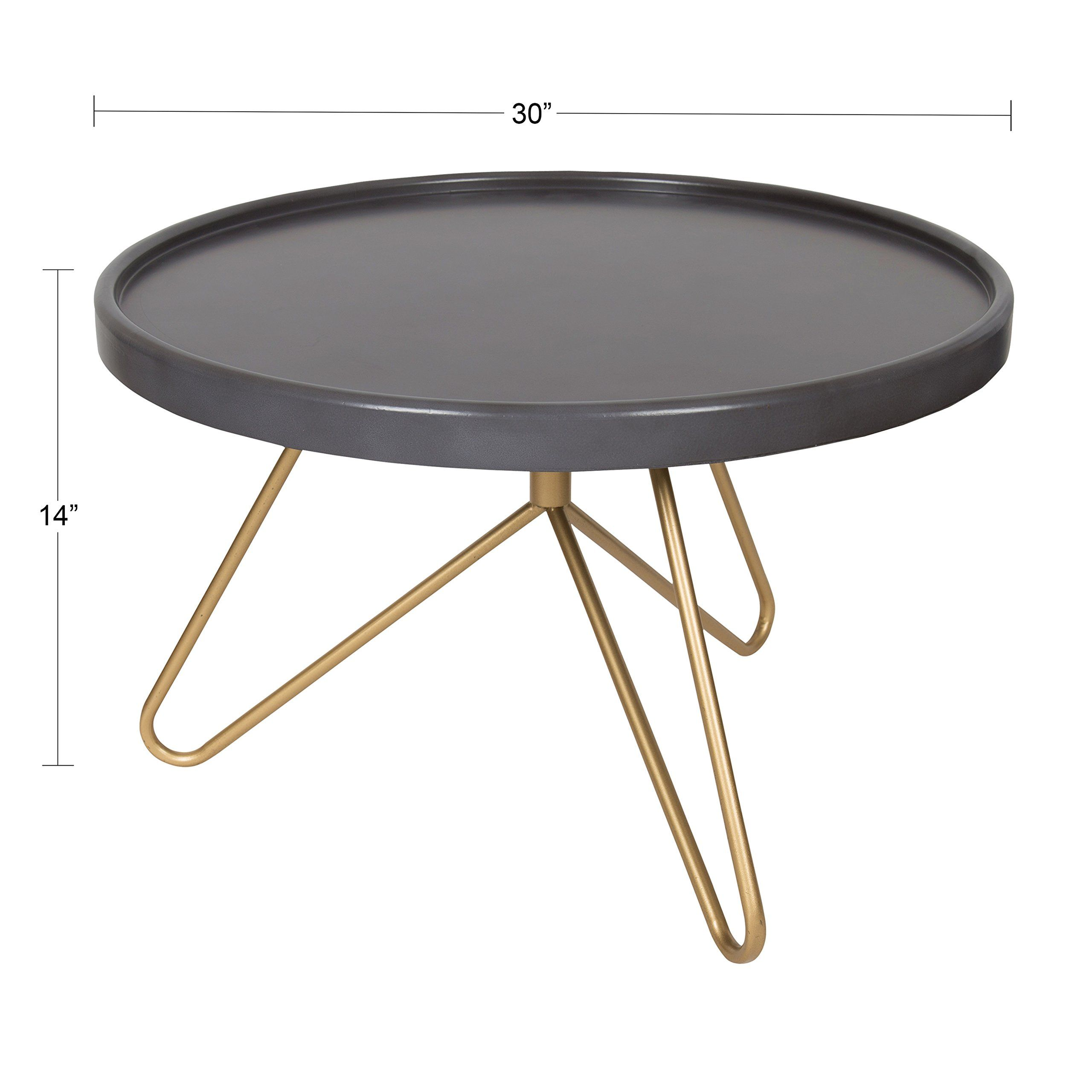 Kate And Laurel Maxey 30inch Round Coffee Table Gray And Gold More Details Could Be Located At The Photo Url This Round Coffee Table Table Coffee Table [ 2560 x 2560 Pixel ]