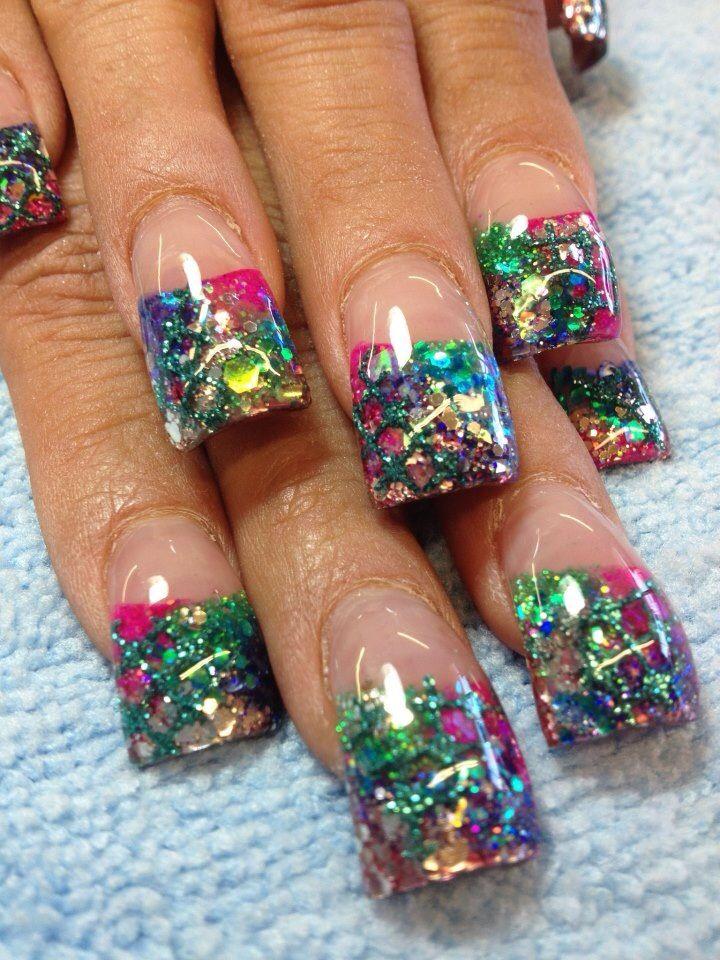Rockstar Nails Nail Designs Mylar Nails Luminous Nails